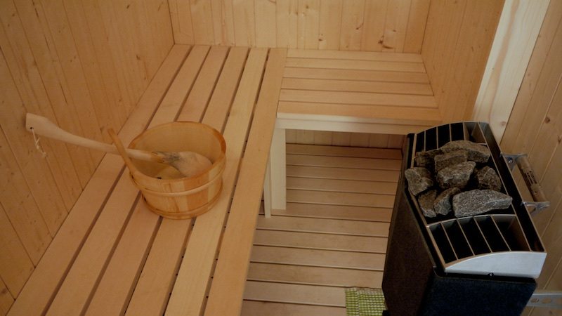 2 bedrooms & sauna in second floor